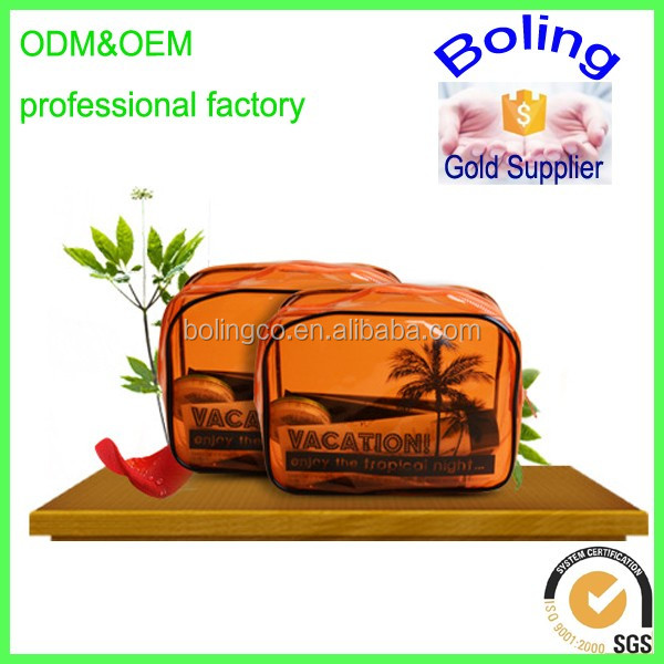 promotional beautiful pvc cosmetic bag