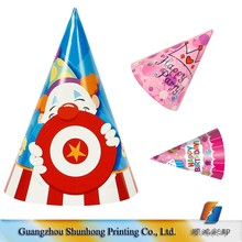 Low Price Prining Paper Cone Hats Birthday Party Decoration Ideas