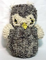 Stuffed & Plush Toys- Giant Gray Owl