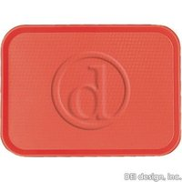 Cambro: Red 10-7 / 16 X 13-9 / 16 Fast Food Trays, 24 / Pk, 1014