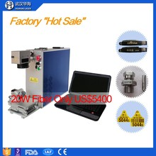 10W/20W mini fiber portable mobile phone laser marking machine for steel,watch