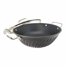 amc automatic wok stainless steel kitchenware cookware