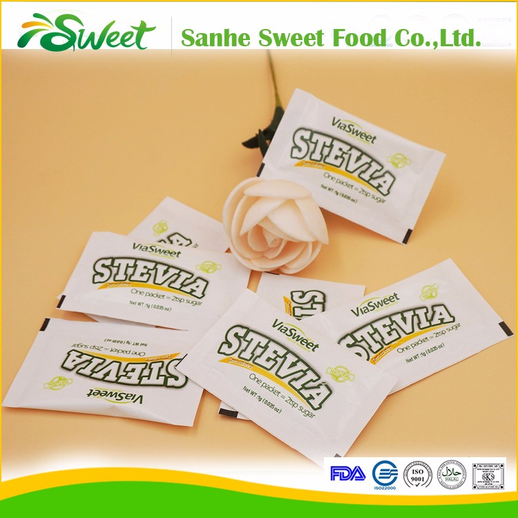 natural & healthy stevia premix sachet certified by FDA, Kosher