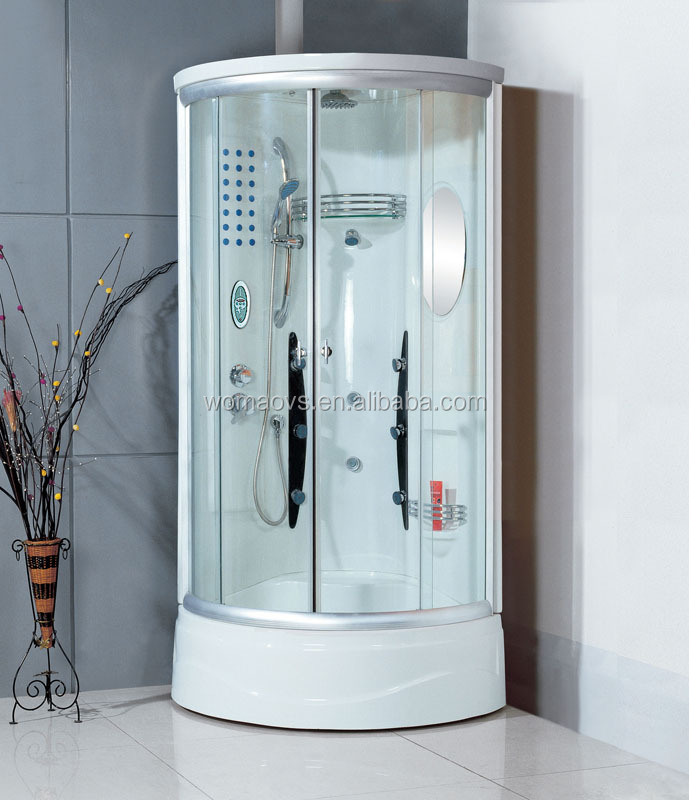 Double sliding door shower cabin with seat WOMA Y810