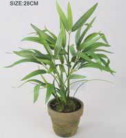 life like artificial green bamboo plant in pot