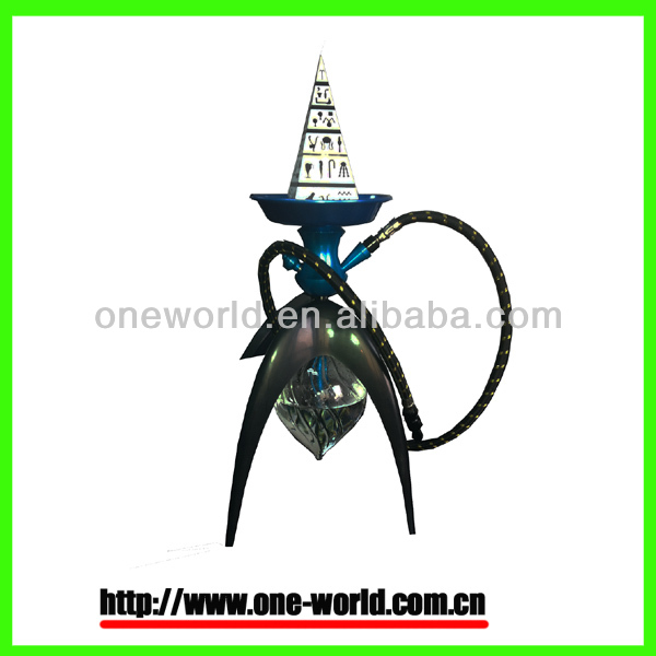 2014 newest disign world's first real premium electric hookah nargile pyramid battery powered electronic shisha e hookah