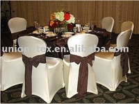 Banquet Or Weding Spandex Chair Covers with Organza Sash(WU-1061305)