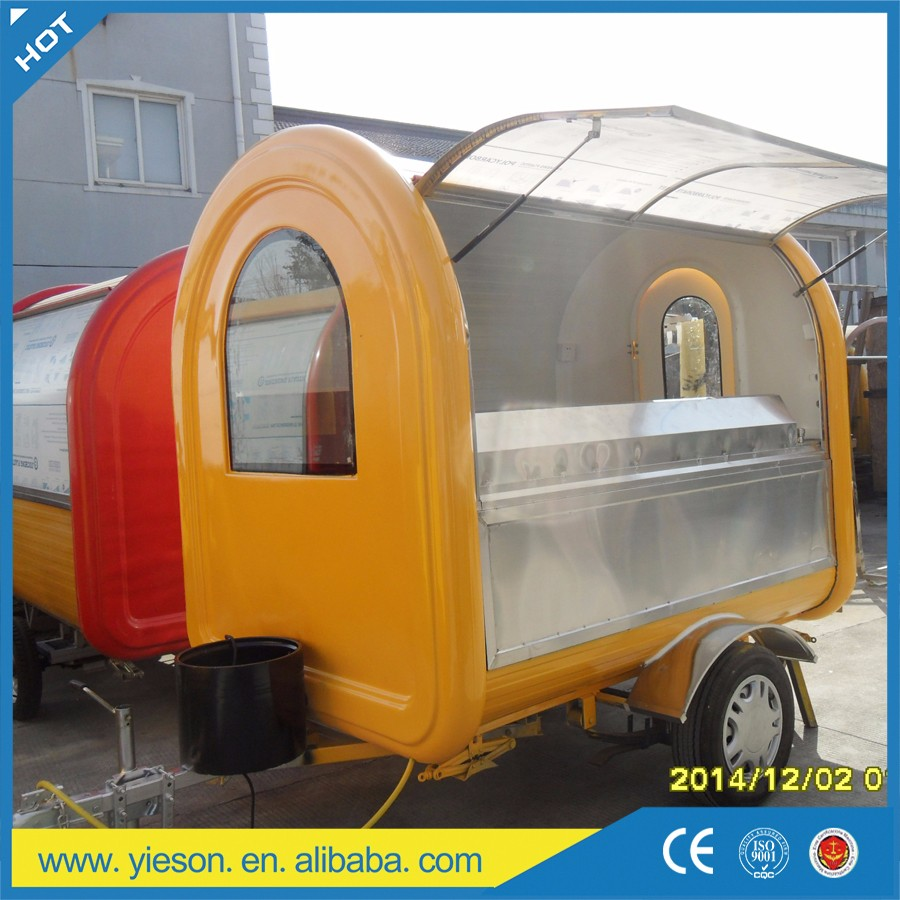 YS-FB390C Best Selling Food Truck Catering Trailers Mobile Food Carts