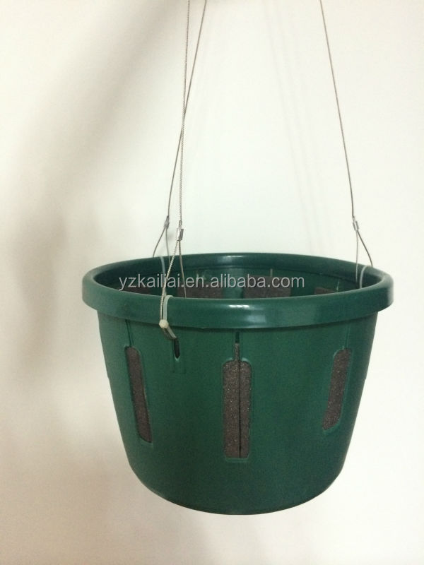 2014 hot sale sky flower pots,water control system pots,automatic watering plastic hanging flower baskets