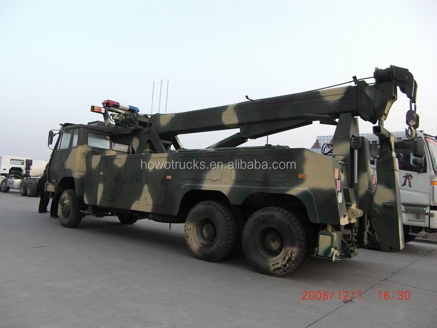 CHINA MADE HOWO HEAVY DUTY ROTATOR WRECKER TOWING TRUCK FOR SALE