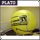 tennis ball sphere balloon/giant helium led sphere for sports event opening