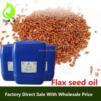 High Flax Lignans Organic Flaxseed Oil Bulk Flax Seed Oil Raw Crude Vegetable Oil Bulk For Health Care