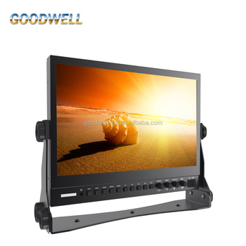 Desktop Good Quality 1920x1080 3G-SDI 13.3 Inch IPS HD SDI LCD Monitor with Waveform ,Vector Scope, Pekaing Focus