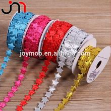 Factory Direct Sales Polyester DIY Decorative Star Shape Ribbon