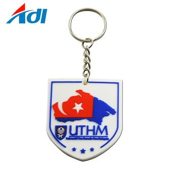 Custom personalized rubber soft 3d pvc keychains