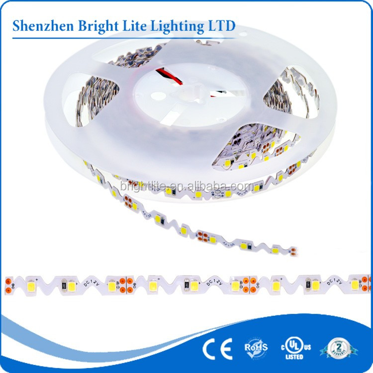 wholesale price 12v 60leds 2835 s shape Cold White led strip light
