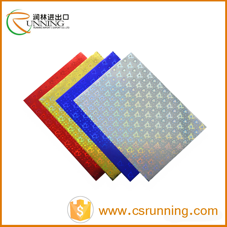 A4 80gsm-300gsm cut holographic laser paper cardboard radium paper sheets