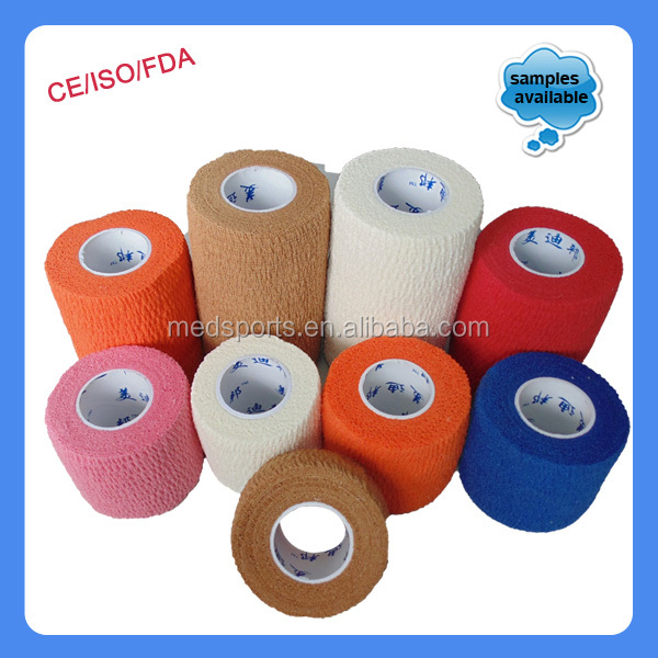 High Quality Self Sticky Vetflex Pet Hand Tear Cohesive Bandage