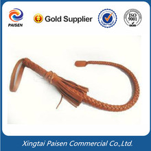 hand-made real genuine cow leather whip/ cowhide whip for horse racing