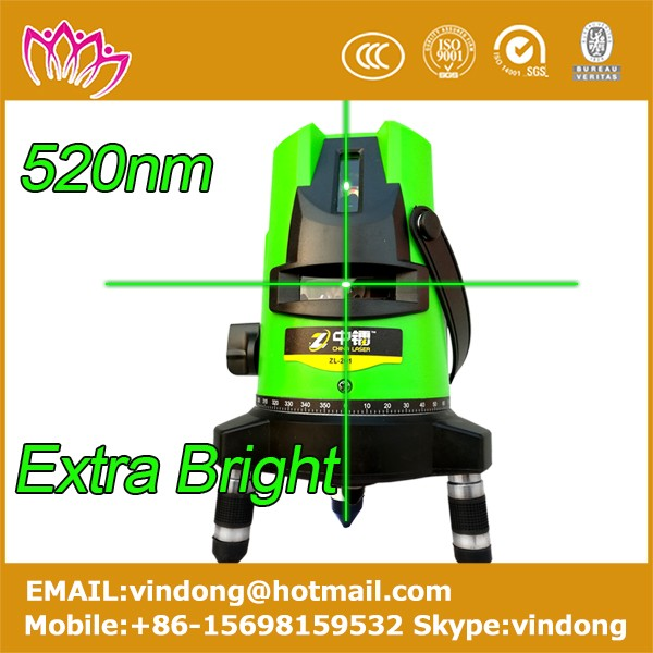 2016 new model 520nm green 3d laser level pro 5 lines indoor and outdoor high accuration automatic self-leveling rotary laser le