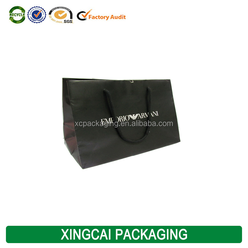 2017 free sample famous brand custom kraft shopping paper bag