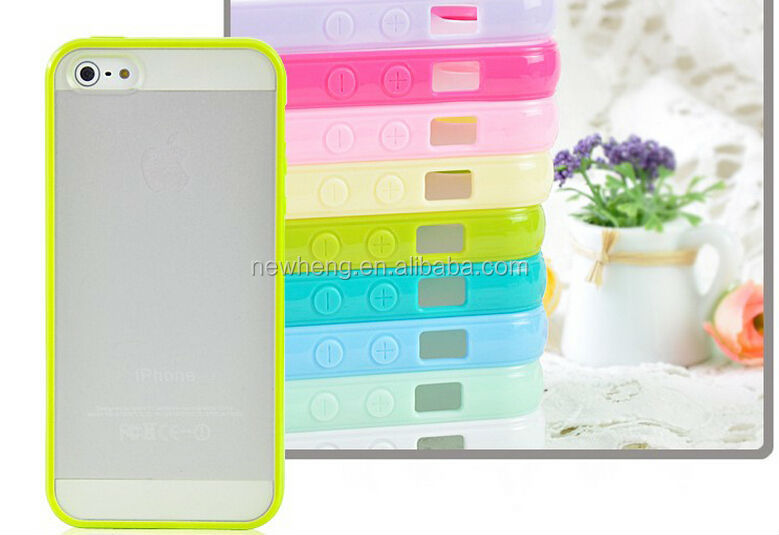 New for iphone5 PC+ TPU soft Case for iphone 5,Gel TPU Silicone Case Style for iphone5
