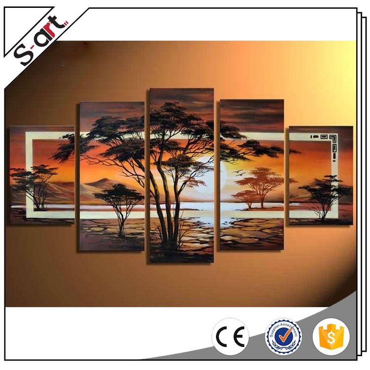 China factory price excellent performance african group oil paintings on canvas