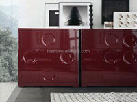 high end golden supplier home furniture 3 drawers wood painting storage office filing cabinet