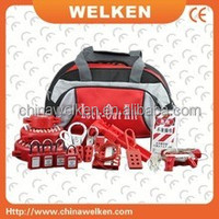 Wholesale Portable lockout pouch safety Industrial tool bag Lock out kit