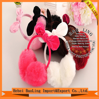 fashion promotion high quality fake fur winter hot sell ear muff