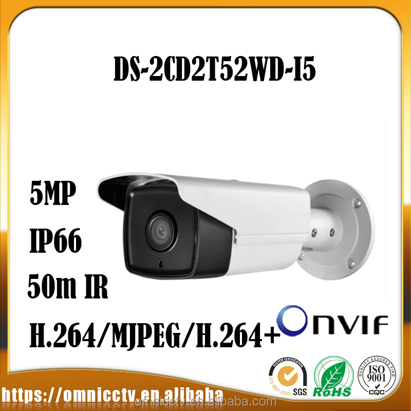 DS-2CD2T52WD-I5 Shenzhen 5MP Outdoor IR Bullet Network Wireless IP Camera