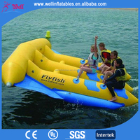 Good quality inflatable flying manta ray / inflatable flying fish tube towable