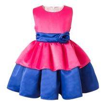 SD-971G 2016 new arrival chiifon teenage girls dresses party wear short dresses wholesale baby clothes