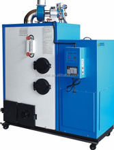 Half gasification and combustion system wood pellet steam generator
