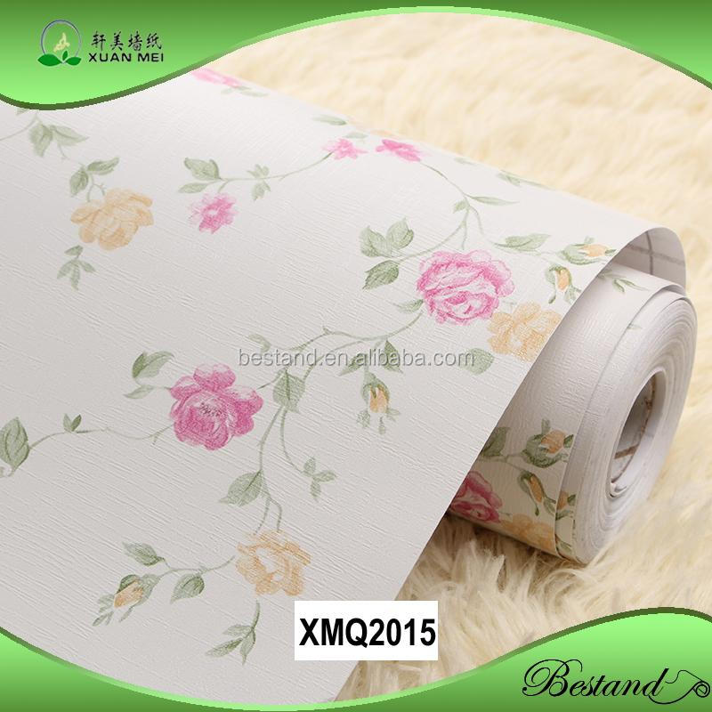 Cheap vinyl wallpaper wall stickers beautiful floral style wallpaper for bedroom,living room