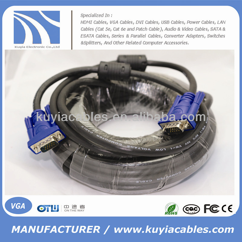 VGA Cable 15m For LCD Monitor PC Projector and HDTV