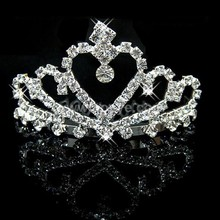 Wholesale small princess crown hairband wedding bridal tiaras and crowns