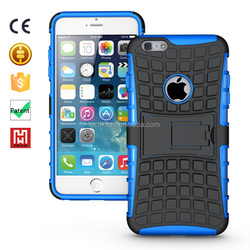 2in1 Compatible cell Phone Case Wholesale TPU+PC Kickstand Hybrid ARMOR case for iphone6