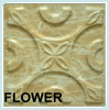 light yellow flower embossed plastic wall panel