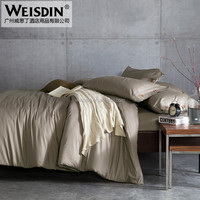 Wholesale Home Textile solid color twill weave home yarn dyed bedding set