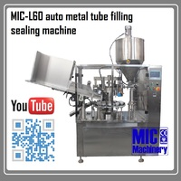 MIC-L60 chemical pigment acrylic paint filling equipment aluminum tube filling machine