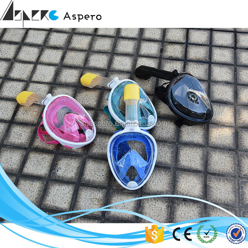 Factory price Full Face Snorkel Mask Snorkeling Camera Anti Fog Full Face Diving Mask Snorkeling Set