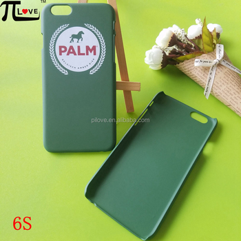 Custom OEM gifts high - end green pc mobile phone back case for Iphone 6s
