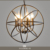 Maso creative retro antique galvanize pendant lamps indoor pendant lamp globe E14 Candle bulb Chandelier MS-P6052