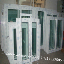 PVC window sliding type pvc frame glass window factory price