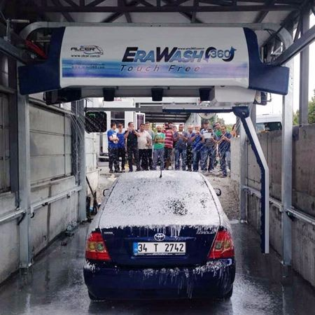 Leisu touchless car wash equipment exported to Spain