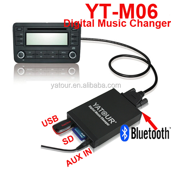 Car USB SD AUX MP3 adapter with Bluetooth handsfree for Fiat 8pin