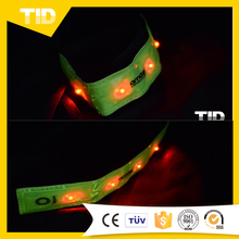 LED Safety Flashing Arm Bands, Safety Reflector Tape with LED