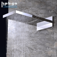 High Quality Brass Waterfall Rain Bathroom Massage Two Functions Shower Head