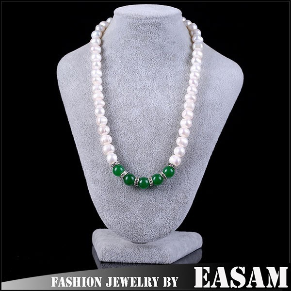 Latest design freshwater real pearl necklace price